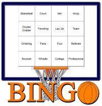 Free Basketball Theme Party Bingo