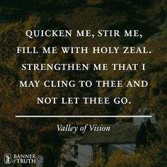 The Valley of Vision: A collection of Puritan Prayers & Devotions by Arthur Bennett. The Strength of Purtian character and life lay in prayer and meditation. Consequently in the Puritan tradition these prayers and meditations where an important characteristic of genuine spirituality.
