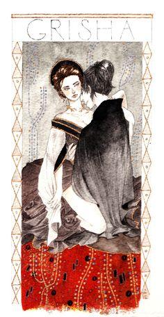 Grisha Trilogy - Shadow and Bone by Leigh Bardugo Fan Art  Alina & The Darkling <3