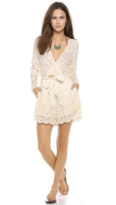 Zimmermann Keeper Embroidered Romper | Shopbop