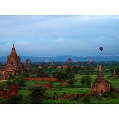 Photo by @chien_chi_chang / @magnumphotos Bagan is the ancient capital of Burma and a sight to rival Cambodia's Angkor Wat. The area once held 13000 pagodas dating back to the second century A.D. many built of brick that was plastered and painted. Although earthquakes and the Ayeyarwady River destroyed more than 10000 of them many new pagodas continue to be built to date. #Bagan #Burma #Myanmar #pagoda by natgeo