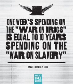 Congress spends more on the war on drugs in ONE week than they have fighting human trafficking in the past TEN years.