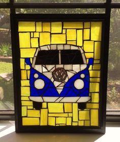 Stained Glass Mosaic Window Hanging/ Sun by SunriseMosaicsbyBeth