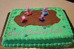 Peppa Pig Birthday Cake - Muddy Puddles Sheet Cake