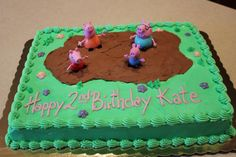 Peppa Pig Birthday Cake - Muddy Puddles Sheet Cake