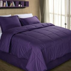 Purple comforter sets king - on more than one occasion it is important to pay attention to the tissues that are used, and precisely this is what . Plum Comforter Set, Plum Bedding, King Comforter Sets, Linen Bedding, Bed Linens, Cotton Bedding, Bed Linen Design, Bed In A Bag, Houses