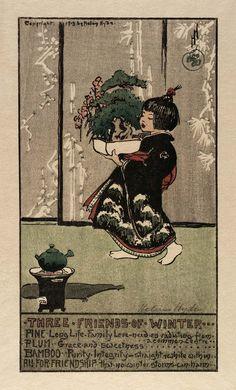 Three Friends of Winter  Helen Hyde, 1913  Woodcut