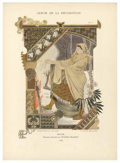 decorative panel by Eugene Grasset], Belle Epoque, Eugene Grasset, Design Fields, Library Catalog, Art Nouveau Design, Decorative Panels, French Art, Album, Art And Architecture