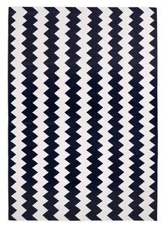 Haveli Chevron Black by The Rug Company   Cotton Flatweave dhurries and kilims