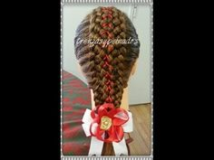 Trenzas para Niña de Navidad - Holiday Braids for Girls - YouTube