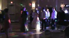 Mother of the Bride leads wedding party is GROUP decade Dance.. All Shook Up, Jailhouse Rock, YMCA, ---
