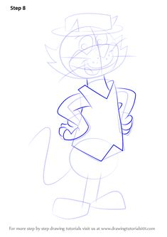 Learn How to Draw Top Cat (Top Cat) Step by Step : Drawing Tutorials