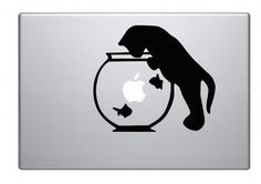 catMacbook decal Macbook sticker Mac decal Mac by Decalaccel, $6.95
