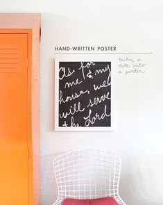 Hand-Written Poster Project - so many possibilities! chalkboard