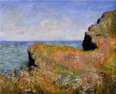 Edge of the Cliff, Pourville - Claude Monet, 1882 Private Collection