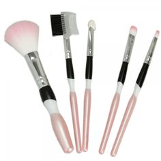 5pcs Personality Cosmetic Makeup Brush Set Black and Pink (no free shipping)