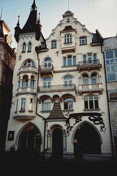 Bratislava, Slovakia (I'm not sure what the building is. To me, it looks like an apartment building. I love the architecture.)