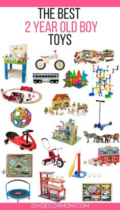 SAVING THIS! Such a good list for gifts for the best toys for 2 yr old boys! Love all these gift ideas for two year old boys! Great ideas for trains, trampolines, bikes, all of the best picks for two year olds! See what this mom of three says stands the t Christmas Gifts For 2 Year Olds, 2 Year Old Gifts, Toys For 1 Year Old, Christmas Ideas, Toddler Christmas Gifts, Christmas Traditions, Best Toddler Toys, Best Kids Toys, Toddler Gifts