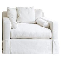 Wrapped in seashell-hued upholstery and showcasing scatter back pillows, this classic arm chair brings a cozy touch to your living room or den.  ...