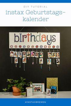 instax DIY: Gestalte mit uns ein instax Geburtstagskalender. Wir zeigen Dir wie!