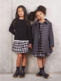 Miller Girls Romer Coat In Grey | ELIAS & GRACE