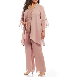 size dresses mother of the bride Le Bos Plus Size Bell Sleeve Duster Pant Set Mother Of The Bride Trouser Suits, Mother Of Bride Outfits, Mother Of Groom Dresses, Mothers Dresses, Plus Size Pants, Plus Size Dresses, Formal Wedding Guest Attire, Plus Size Wedding Outfits, Dressy Pant Suits