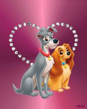 Download Animated 176x220 «Леди и бродяга (1)» Cell Phone Wallpaper. Category: Cartoons
