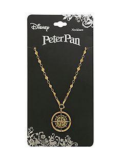 Disney Peter Pan Compass Necklace,