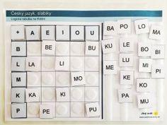 Jiný svět Český jazyk - slabiky, logická tabulka na třídění (66 kartiček) Computer Keyboard, Struktura, Activities, School, Esl, Psychology, Education, Autism, Psicologia