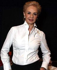 Carolina Herrera: 'Hago prêt-à-porter de luxe' Work Fashion, Fashion Outfits, Womens Fashion, Clothes For Women Over 50, Ch Carolina Herrera, White Shirts, White Blouses, Western Dresses, Black Blouse