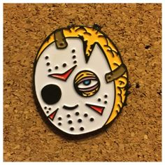 Jason Pin ver.2 Soft Enamel Pin by TittyBat i will absolutely buy this bad muther fucker