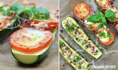 Low Carb Rezept für leckere Low-Carb Zucchini Pizza Boats. Wenig Kohlenhydrate und einfach zum Nachkochen. Super für Diät/zum Abnehmen.