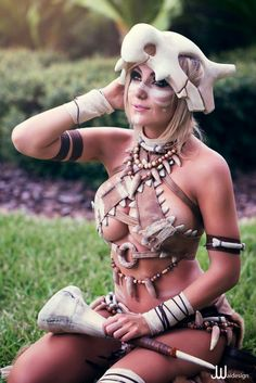 Cosplayer: Jessica Nigri. Country: United States. Cosplay: Cubone from Pokemon…