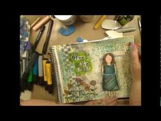 Give Me Green!  Mixed media Tutorial