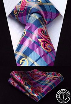 Includes necktie and pocket square Standard necktie length  59