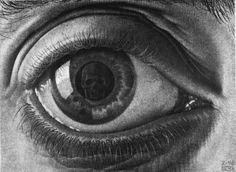 'auge', Lithografie von Maurits Cornelis Escher (1898-1972, Netherlands)