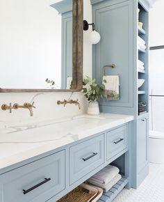 Home Decor Living Room Bathroom Inspiration // Studio McGee.Home Decor Living Room Bathroom Inspiration // Studio McGee Studio Mcgee, Bad Inspiration, Bathroom Inspiration, Beautiful Bathrooms, Modern Bathroom, Dream Bathrooms, Light Blue Bathrooms, Quirky Bathroom, Teen Bathrooms