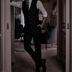 Bad Boy Aesthetic, Character Aesthetic, Aesthetic Clothes, Foto Glamour, Ropa Interior Babydoll, Der Gentleman, Look Formal, Suits, Hot Boys