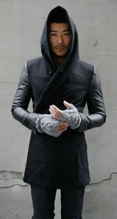 Guylook - Avant-garde Slim Fit Hood Coat