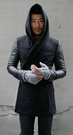 Guylook - Avant-garde Slim Fit Hood Coat