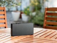 Carry your favorite #audio outdoors in this sweet little #speaker!