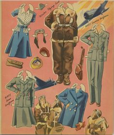 Here's a lovely uncut original book of Girl Pilots of the Ferry command. I love the illustrations in the book ...