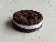 Crochet Oreo cookie