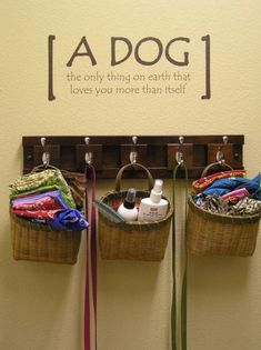 This Dog station will keep you and your pets things organized! Perhaps you could have it in the laundry room! I Love Dogs, Puppy Love, Rambo 3, Dog Station, Ideas Para Organizar, Dog Rooms, Laundry Room Organization, Laundry Rooms, Cat Dog