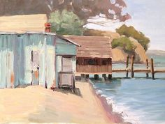 New plein air painting of China Camp.