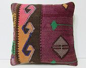 maroon bohemian pillow cover striped throw pillow brown turkish rug pillow pink sofa throw pillow ethnic pillow gold kilim pillow sham 18427