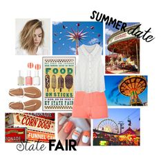 """""""Summer Date: State Fair"""" by brittanyb1999 ❤ liked on Polyvore featuring River Island, Aéropostale, Kate Spade and Essie"""
