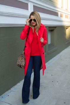 red & denim