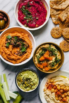 Hummus four ways.
