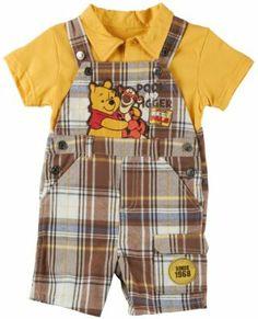 7e8c2f0a1bb4 Disney Baby Winnie The Pooh Plaid Overall Set Winnie The Pooh Nursery